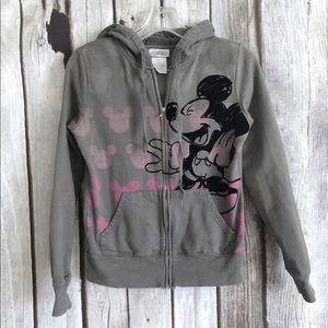 Disney Parks Girls Mickey Zip Up Hoodie Jacket